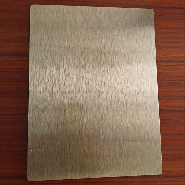 Brush Gold Silver Copper Sublimation Aluminum Sheet Signi